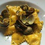 tortellini and clams - yumm!
