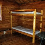 Cabin interior - twin bunk beds