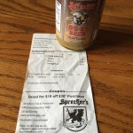 Note the $10 off coupon with my root beer mustard purchase. FYI as a dining option after the tou