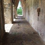 Corbel arch inside El Palacio