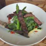 Steak and asparagus salad :)