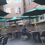 Outside patio is nice.