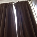 Curtains did not fully close