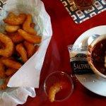 Shrimp and chili!