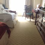 Clean carpets in this room and comfortable beds!