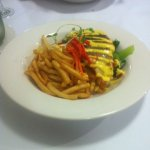 Oven-baked Atlantic salmon with hollandaise sauce