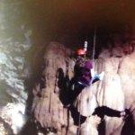 140+ foot descent....