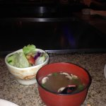 Miso soup and Japanese salad