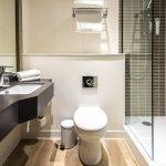 Newly refurbished bathroom with walk in shower