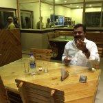 Suresh gopi in green leafs restaurant Manipuzha