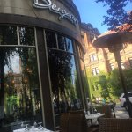 Fantastic duck paté, foie gras, champagne, chicken, and duck. Lovely outdoor seating and wonderf