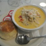 Seafood Chowder and BIscuit