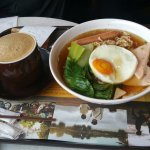 Coffee was Good! Noodle soup was so good after a long flight