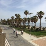 Wonderful pedestrian seaside walk across from the Hotel de la Villa.