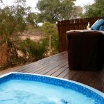 Deck of room 7 with private plunge pool