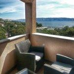 Wunderschöne Sicht aufs Meer und die Insel Krk