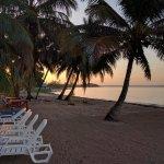 Dawn over the newly racked beach at Casa Zuleyda