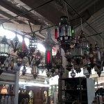 beautiful Moroccan lamps on display