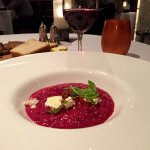 Beet root risotto