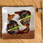 Spicy beef tenderloin with sesame, red chilli and sweet soy