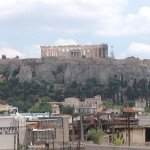 View of the Acropolis from room balcony