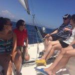 Skipper is explaining the tasks on the boat