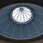 the dome over the staircase - perfect light for reading