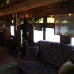 Inside the Viking car.