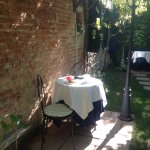 Breakfast can be taken in the small secluded garden