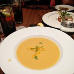 Soup of the Day: Butternut squash. Served French style, delicious.