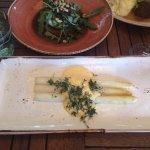 Fresh white asparagus