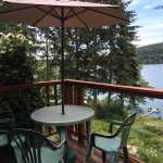 Enjoy the serene beauty of St. Mary Lake from your private deck.