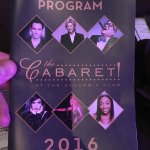 The program feating some of Broadway's finest. June 2016