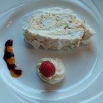 Fabulous lemon meringe dessert at the Adelphi