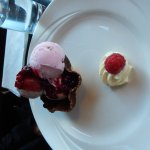 yummy ice cream with edible choc-covered bowl at the Adelphi