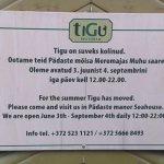 Tigu closed for summer