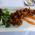 Baby Squid with salad and Chilli Sauce