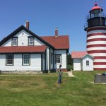 West Quoddy Head lighthouse. Eastern most point in the USA.