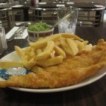 huge fish-and-chip plate