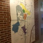 Cool map of the local vineyard in the hallway