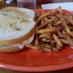 The reuben burger - fantastic