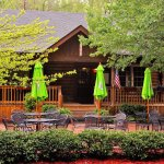 Timbers Log Cabin Restaurant with pet-friendly outdoor patio