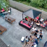 Big backyard patio!