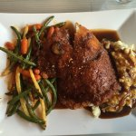 Pork schnitzel with mashed potatoes and mixed veggies... Tender, juicy and Amazingly delicious!
