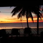 Sunset taken from inside our Delux Beachfront Room