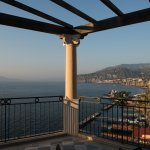View from the terrace of our suite near sunset.  Vesuvio is in the background on the left.
