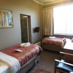 Our room, great for two singles