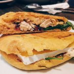 toasted bap with brie, rocket and cranberry