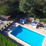 Vista aérea piscina