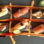 Nigiri sushi at the Cabin of Willowick